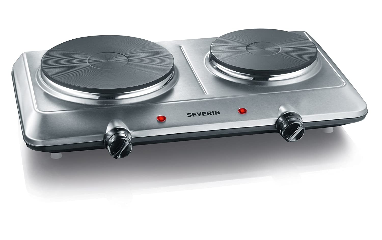 Doppel-Kochplatte mit Edelstahlgehäuse von Severin