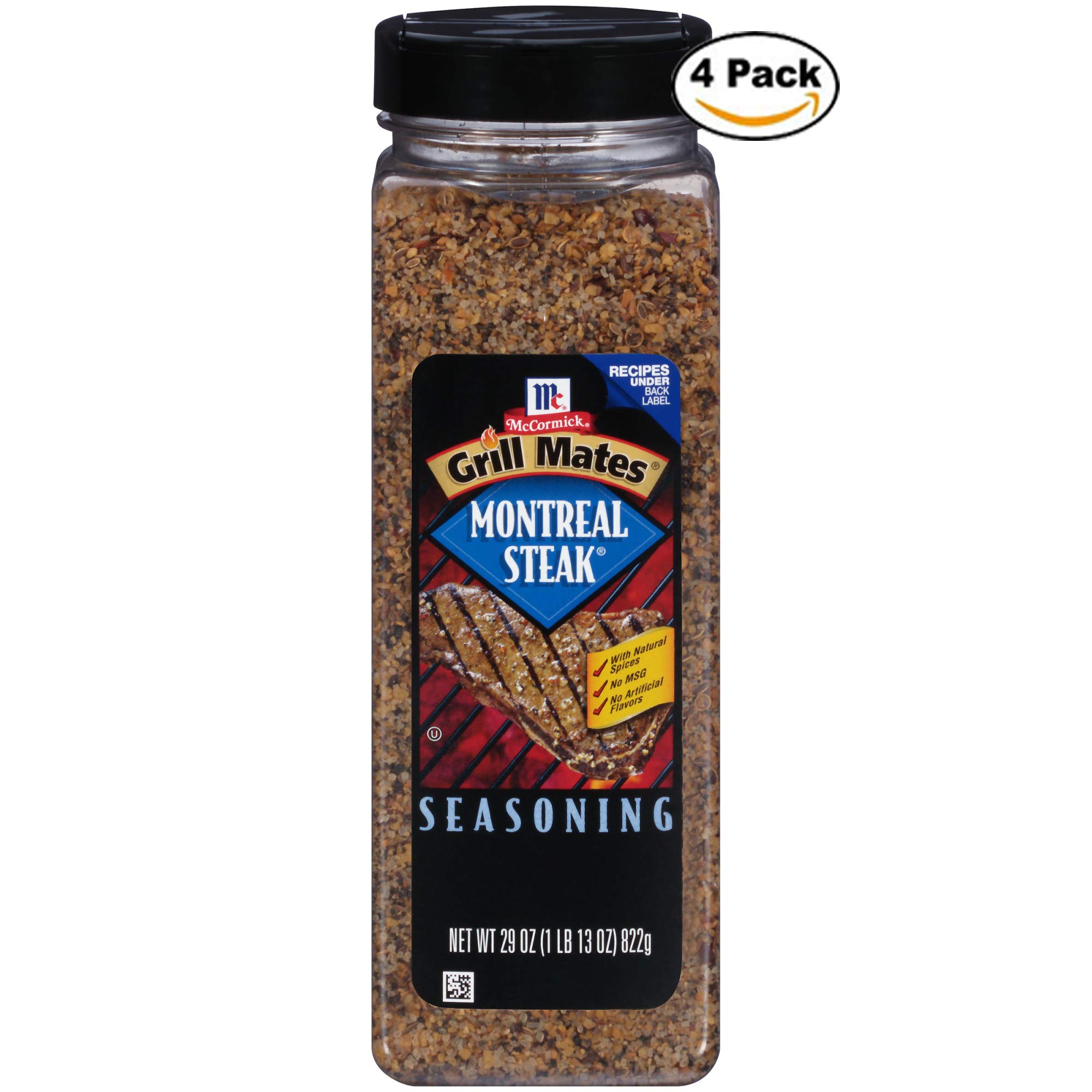 McCormick Grill Mates Montreal Steak Seasoning, 29 oz. - Pack of 4