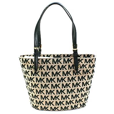 Michael Kors MK Signature Jacquard Medium Tote Bag (Black) #38T2XTTT2J