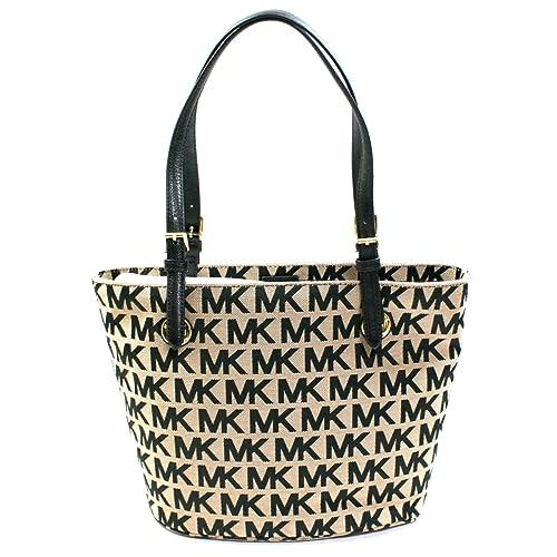 Amazon.com: Michael Kors MK Firma Jacquard Medium bolsa Bag ...