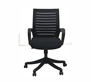 Lakdi Mid Back Executive Office Mesh Chair PP Armrest Support MFN(134119_21)