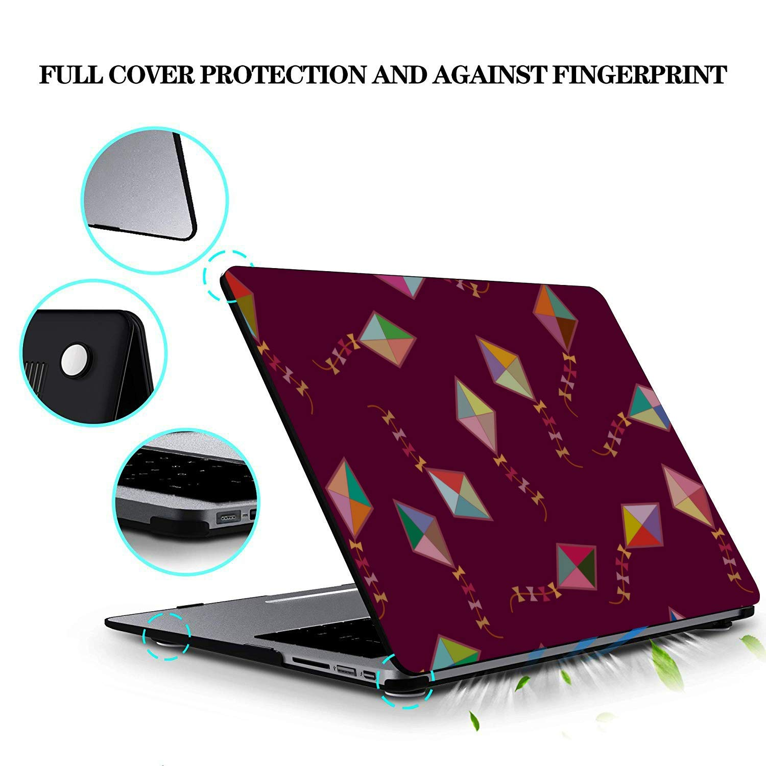 Mac Case Spring Children Play Game Toy Kite Plastic Hard Shell Compatible Mac Air 11 Pro 13 15 MacBook Air Accessories Protection for MacBook 2016-2019 Version