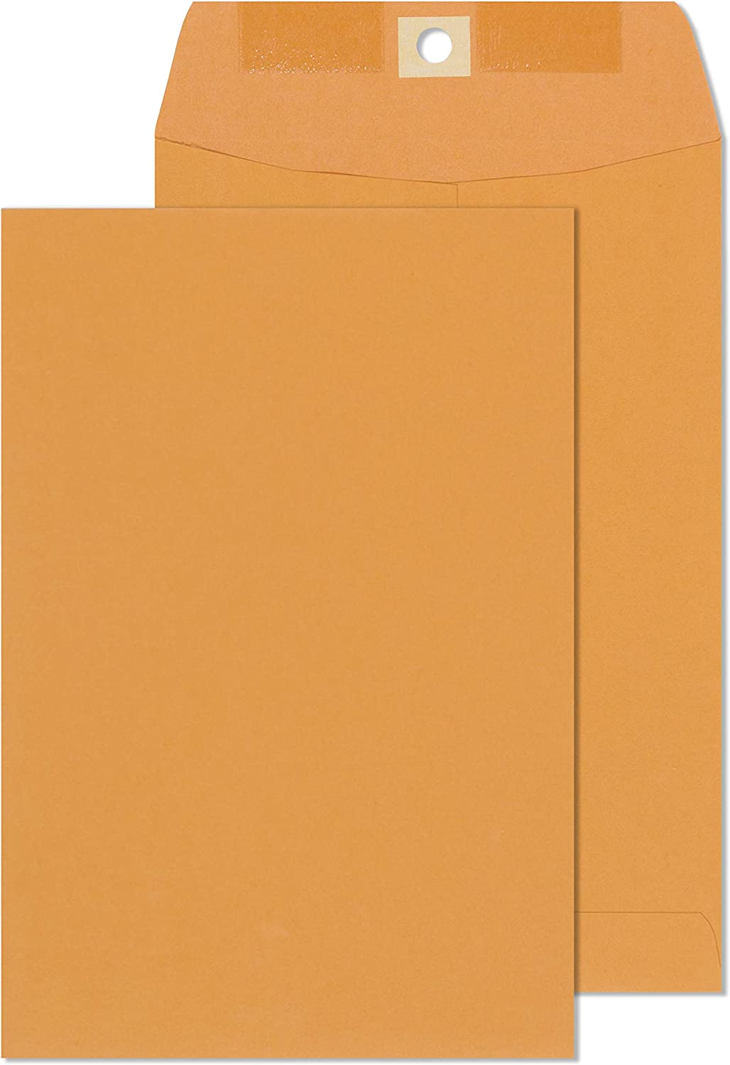 Clasp Envelopes – 6x9 Inch Brown Kraft Catalog Envelopes with Clasp Closure & Gummed Seal – 28lb Heavyweight Paper Envelopes for Home, Office, Business, Legal or School - 30 Pack