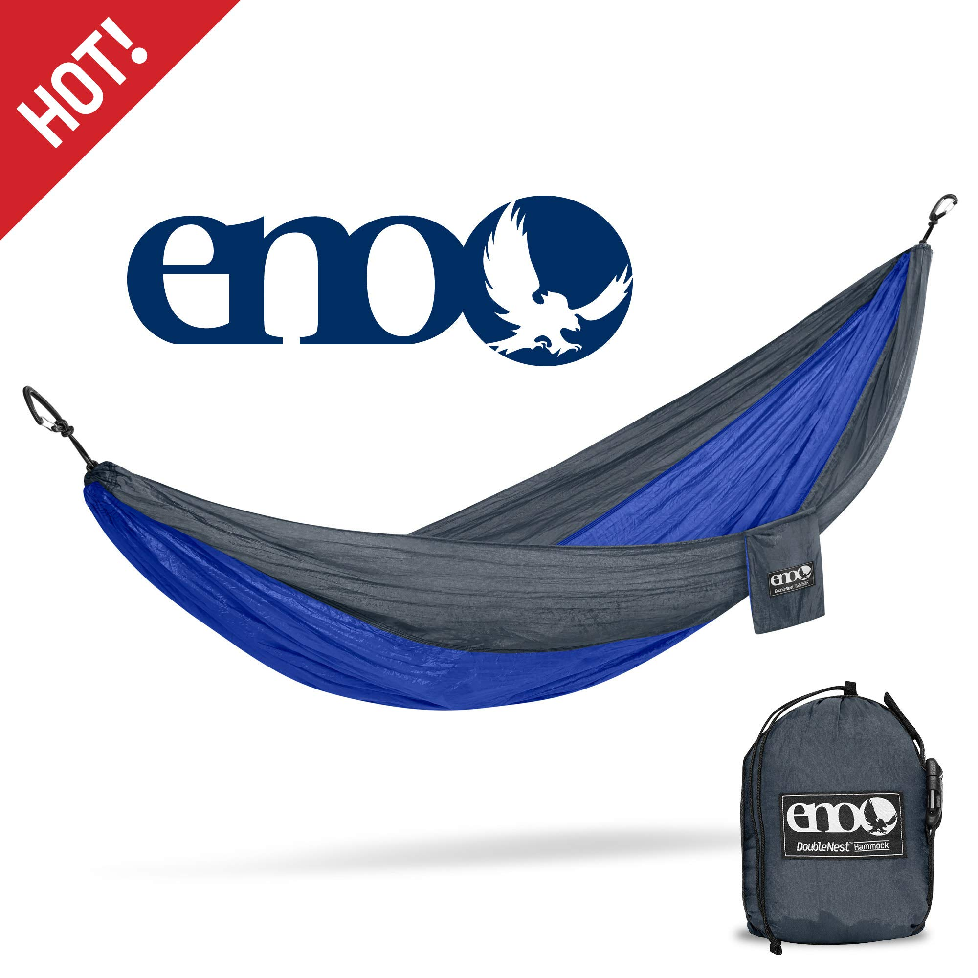 ENO - Eagles Nest Outfitters DoubleNest Lightweight Camping Hammock, 1 to 2 Person, National Park Foundation Special Edition by ENO
