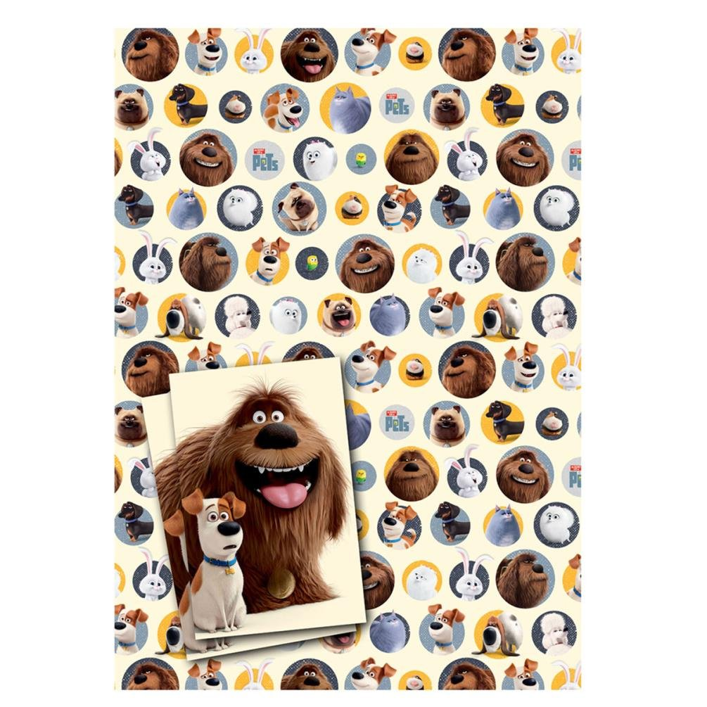 100 minion gift wrapping paper best 25 candy bar minions amazon com secret life of pets 2 sheets of gift wrap and 2 tags negle Gallery