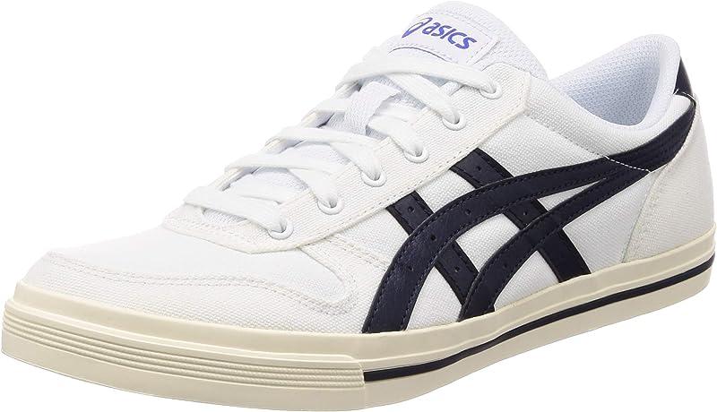 ASICS Aaron Sneakers Damen Herren Unisex Weiß/Schwarz Größe 38-46