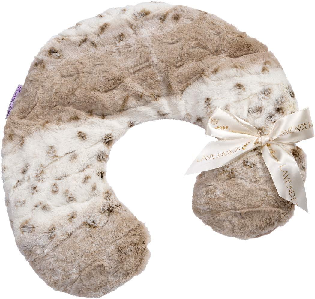 Lavender SPA Heat WRAP in Angora Faux Fur
