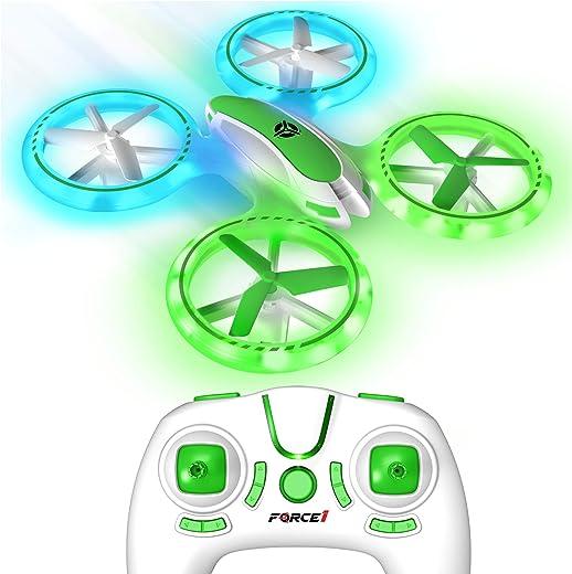 Force1 UFO 3000 LED Mini Drone for Kids – Remote Control Drone