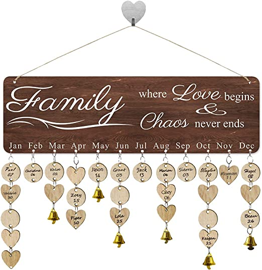 Amazon.com: FamGiftGifts For Moms Dads - Wooden Family Birthday