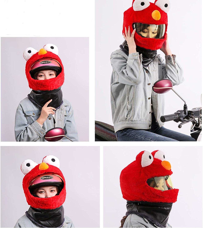 Homyl Lustiger Helmüberzug Helmabdeckung Für Motorradhelm Fahrradhelm Rot Auto