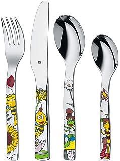 WMF La abeja Maya - Cubertería para niños 4 piezas (tenedor, cuchillo de mesa