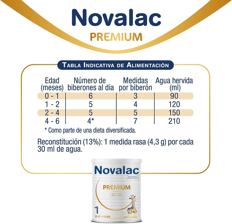 NOVALAC Premium 1 - Leche para lactantes de 0 a 6 meses - 800G
