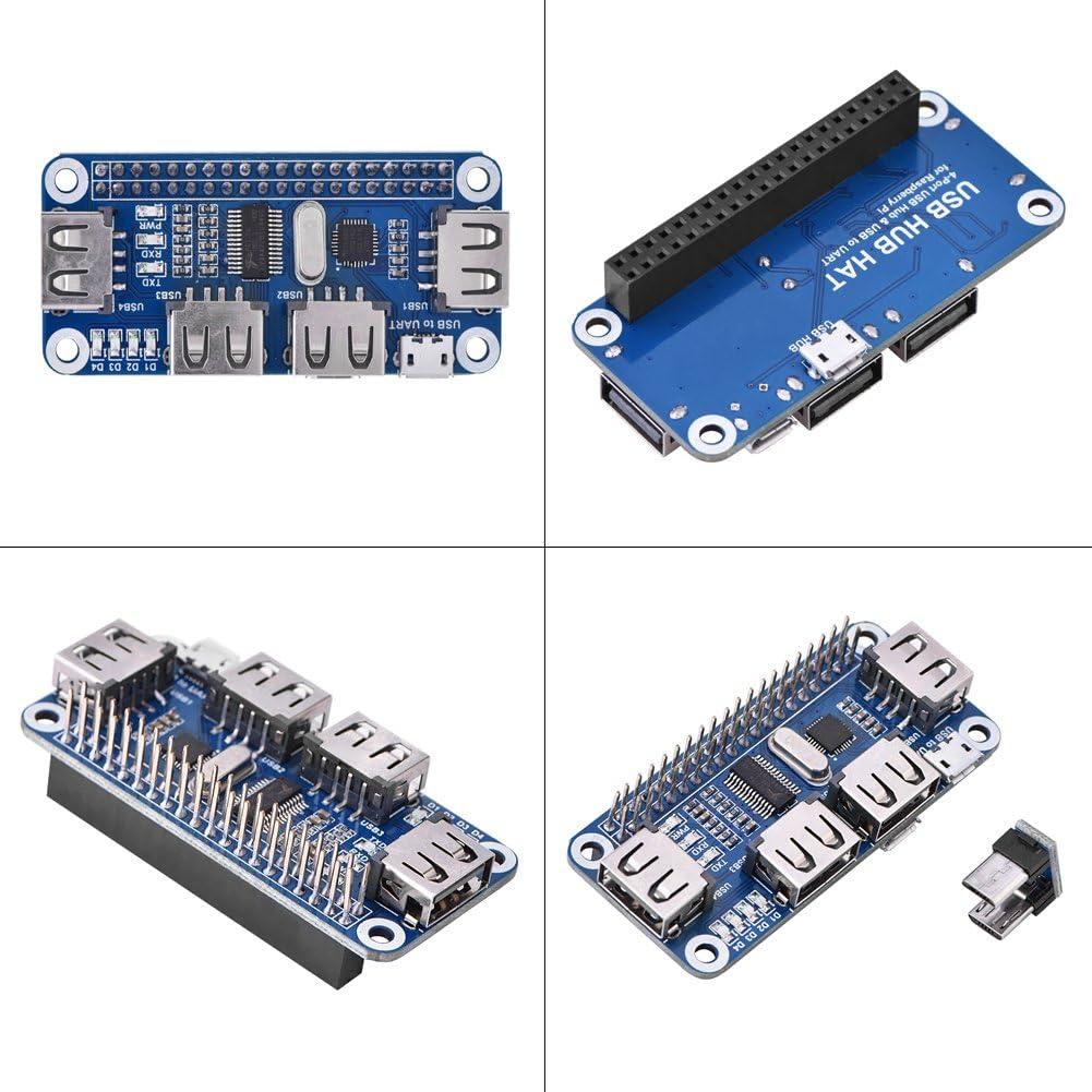 3B Raspberry Pi USB Hub Hat USB to UART Onboard 4 Port USB HUB HAT for Raspberry Pi B+ Asixx USB hub hat 2B Zero//Zero W