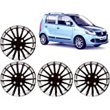 Auto Pearl WC_CMRY_DC_13_WagonR 13-inch Black and Silver Wheel Cover Cap for Maruti Suzuki Wagon R (Set of 4)