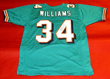 RICKY WILLIAMS AUTOGRAPHED MIAMI DOLPHINS JERSEY JSA at Amazon's ...