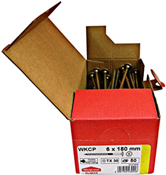 Holzbauschrauben 6 X 160 mm Tellerkopf  TX30 verzinkt ETA Zulassung