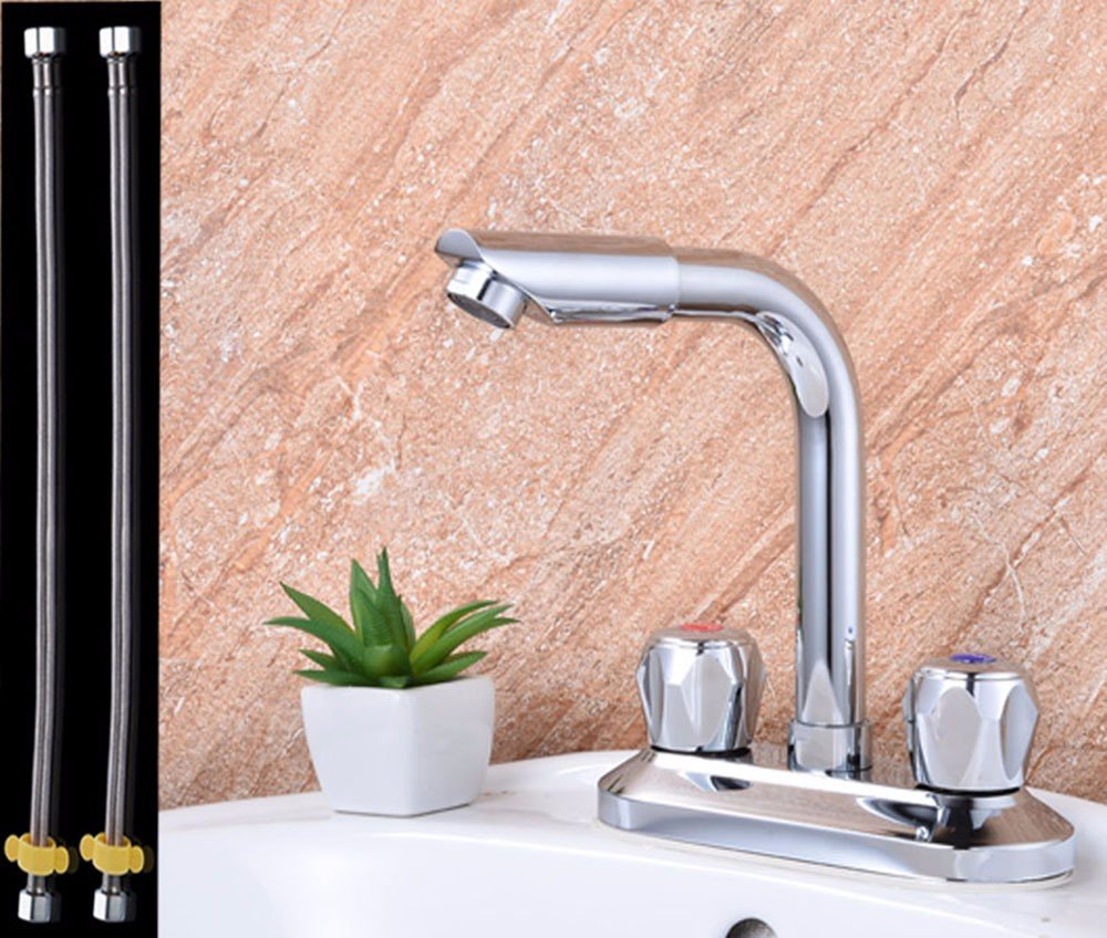 AWXJX Mixer Water Tap Hot and cold copper Double hole Wash your face Basin