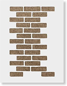 Stencil For Painting Wall And Floor Chevron Wall Stencil Brick Wall Pattern Stencil- Faux Brick Wall Stencil Wall Stencil