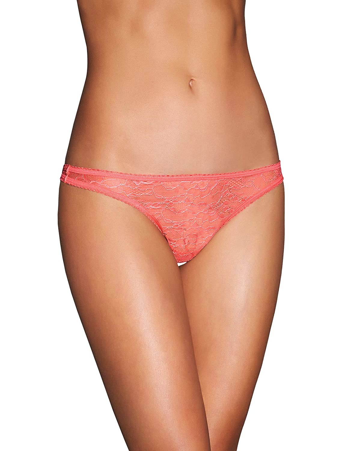 e04bd53f6836 Frederick's Of Hollywood Women's Lace Thong Panties - Ladies Sexy Lingerie  at Amazon Women's Clothing store: