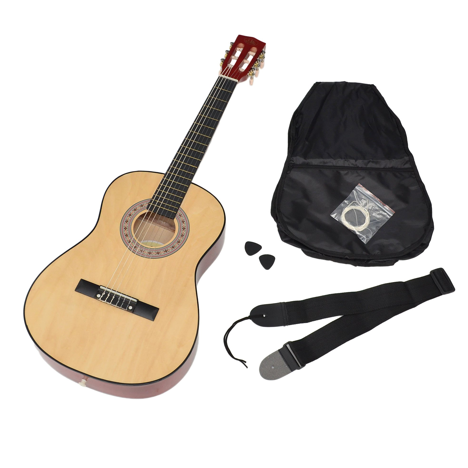 ts-ideen 5261 - Guitarra acústica infantil (tamaño 3/4, niños de