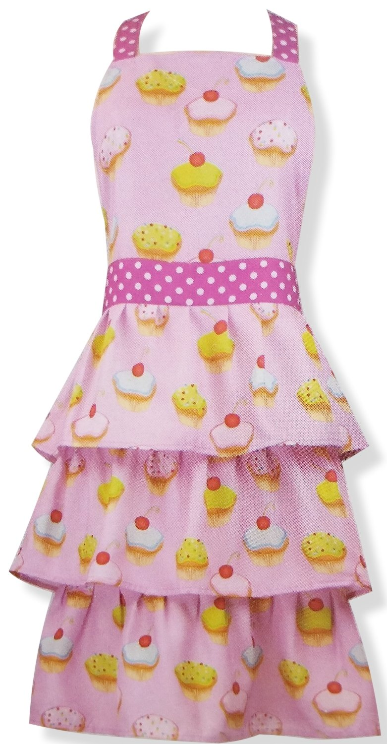 Cute Cupcake Full Length Apron