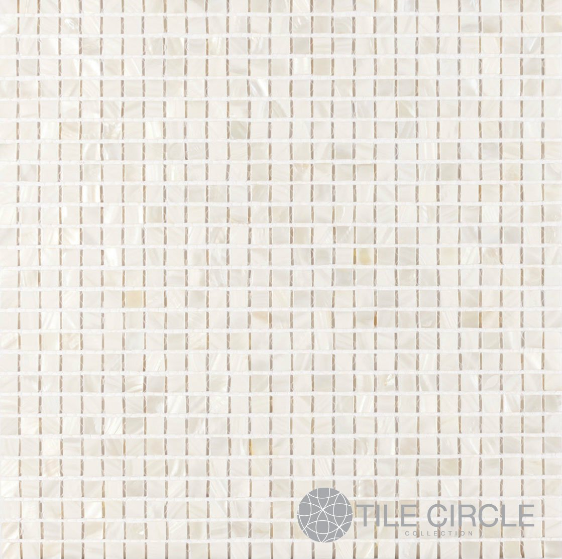 Mother of Pearl Shell Tile White 3/8'' x 3/8'' Micromosaic Squares (On a 12'' X 12'' Mesh) for Backsplash and Bathroom Walls and Floors