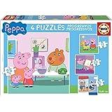 Peppa Pig - Puzzle progresivo, 12, 16, 20, 25 piezas (Educa Borrás 16817.0)