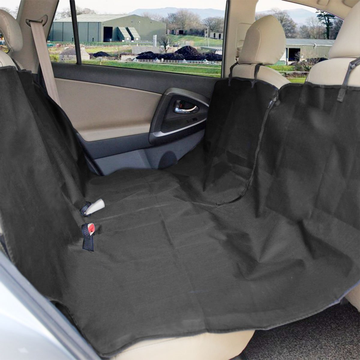 Zone Tech Classic Black Heavy Duty Auto Pet Hammock Premium Quality Dog Vehicle Seat Protector by Zone Tech (Image #1)
