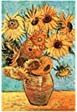 Vincent Van Gogh (Vase with Twelve Sunflowers) Art Poster Print 13 x 19in with Poster Hanger