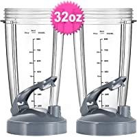 32oz Oversized Cup Set for Nutribullet 600W 900W,Replacement Parts for Nutribullet