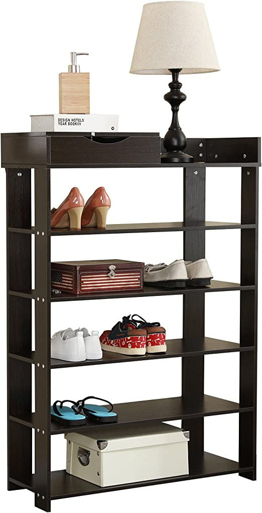 Fashion 2 Tiers Microwave Oven Shelf Organiser Storage Rack Stand Black White NN