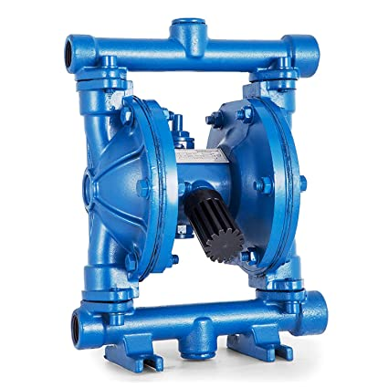 Happybuy Air-Operated Double Diaphragm Pump 1/2 inch Inlet Outlet Cast Iron  12 GPM Max 120PSI for Chemical Industrial Use, QBK-15-1/2inch-12