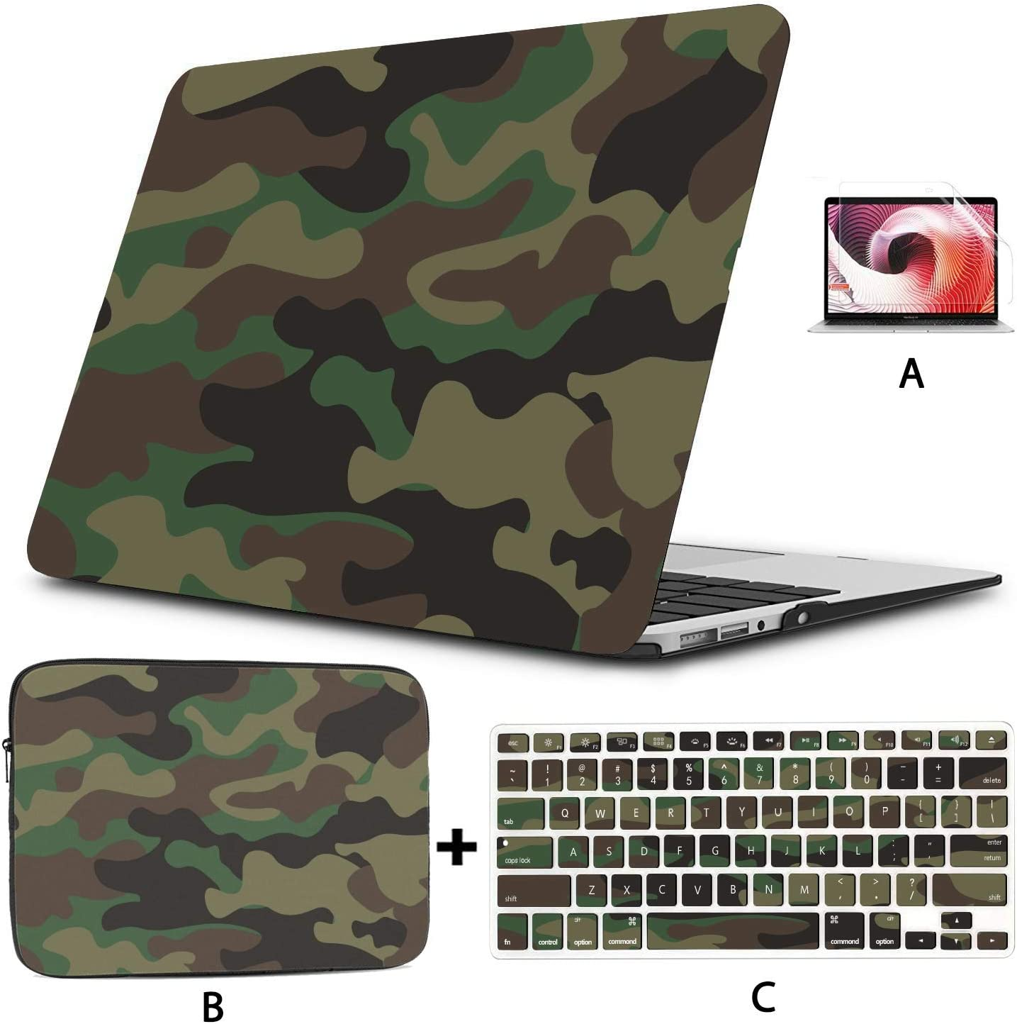 MacBook Air 13 Case Camouflage Protective Military Cool Style MacBook Pro 13 Cover Hard Shell Mac Air 11