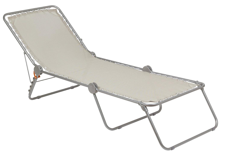 LAFUMA Polycoton Chaise Longue Siesta L, Seigle, 201x70x36 cm LFM2293/1685 arredo campeggio giardino