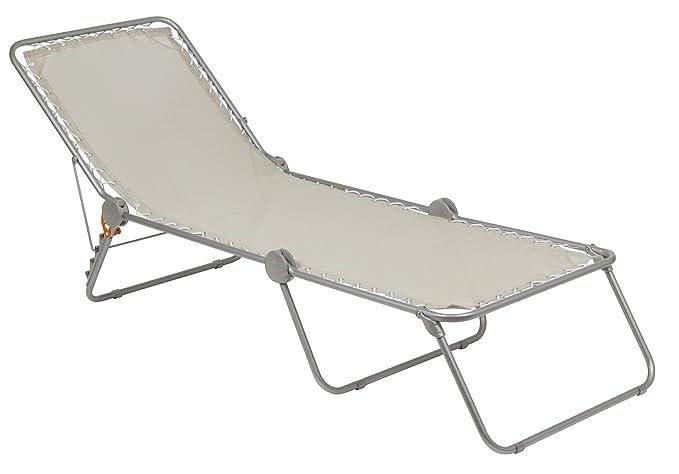 Sedia A Sdraio Classica Lafuma : Lafuma polycoton chaise longue siesta l seigle cm