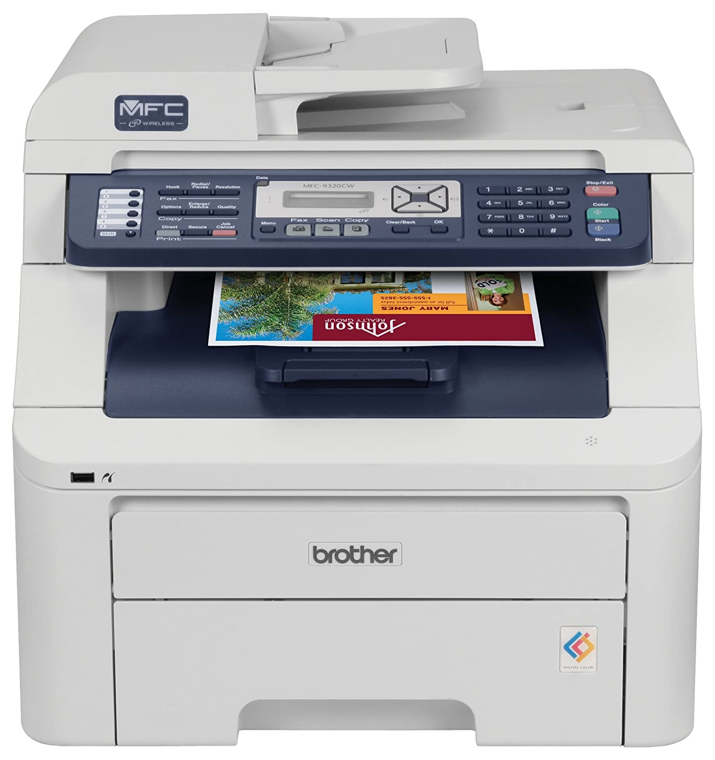 Amazon.com: Brother MFC-9320CW Digital Color All-in-One Printer with  Wireless Networking: Electronics