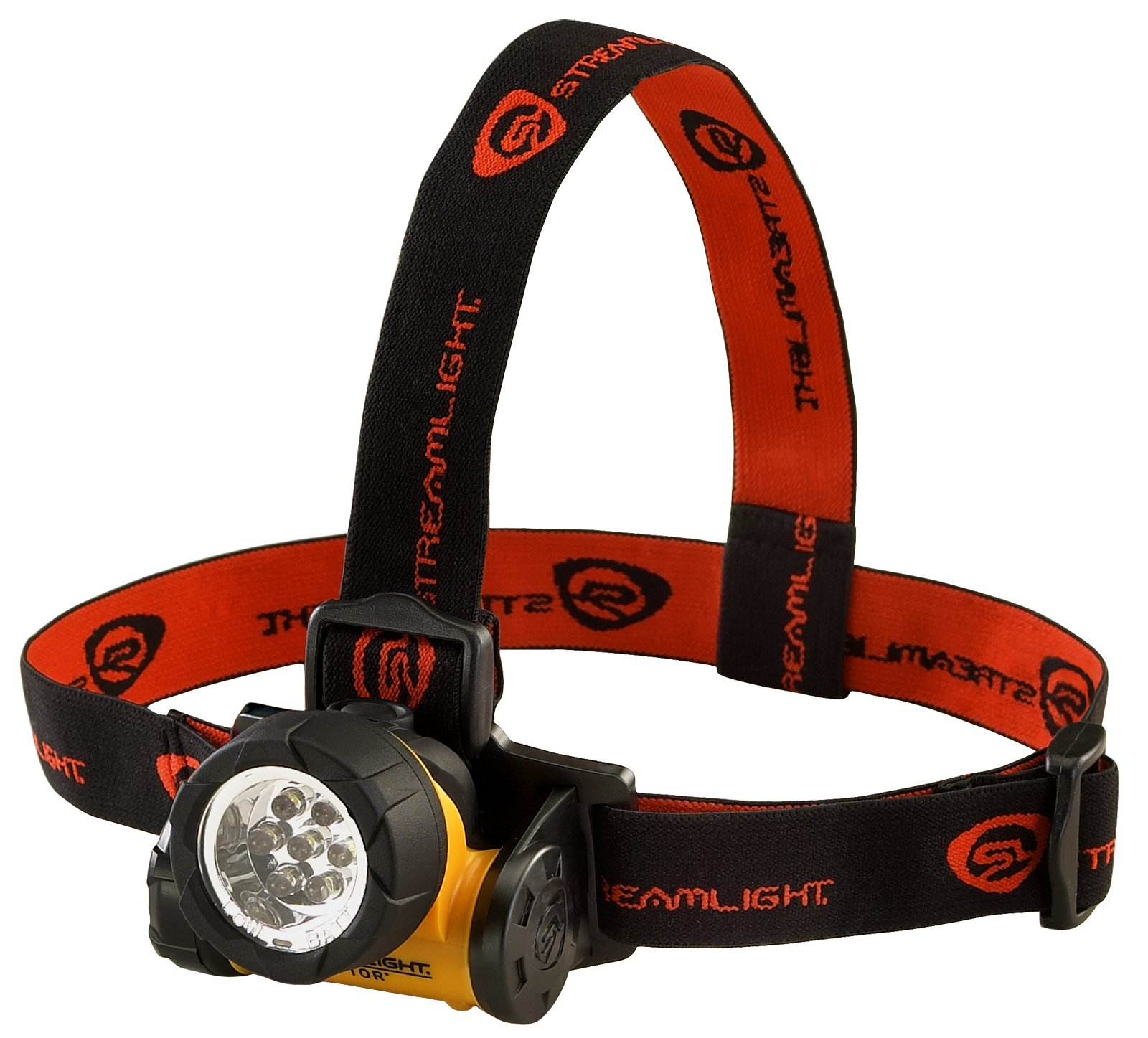 Streamlight 61052 Septor Headlight with Elastic & Rubber Strap, Yellow