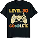 Level 30 Complete 30th Birthday Funny T-Shirt