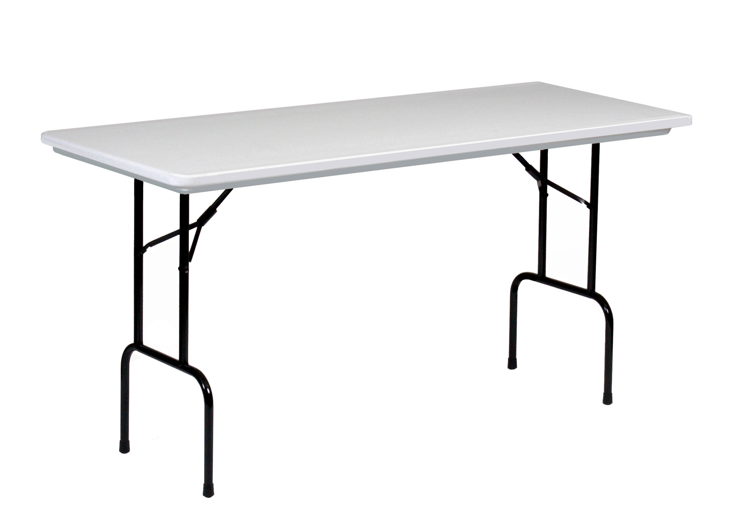 Correll RS3072 R series, 36'' Standing Height Blow Molded Plastic Commercial Duty Folding Table, Rectangular, 30'' x 72'' , Gray Granite