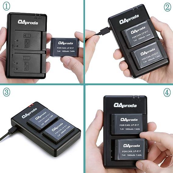 LP-E17 77D Micro USB Cargador para Canon EOS 850D M6