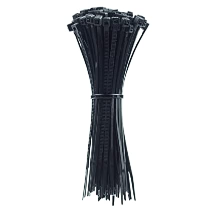 "Zip Cable Ties 100 pcs 8/"" Inch Black Strap Wrap"