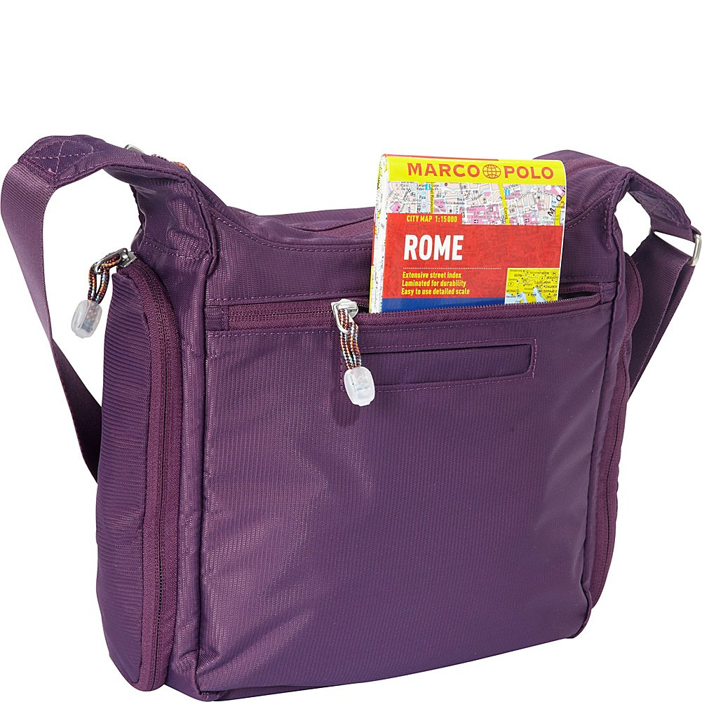 f8e7b0aa939fe5 eBags Piazza Daybag 2.0 with RFID Security Aubergine 340526 Work Business  Business - Small Satchel Crossbody for Travel