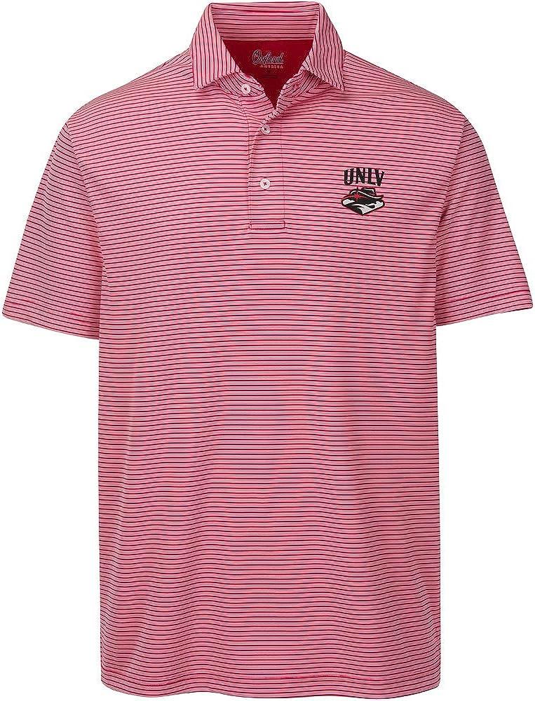 Oxford NCAA Mens Calhoun 2-Tone Stripe Ottoman Polo