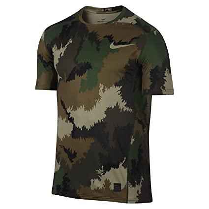 8d65ce8b Buy Nike Men's Pro Hypercool Camouflage Army T-Shirt (Medium) Online ...