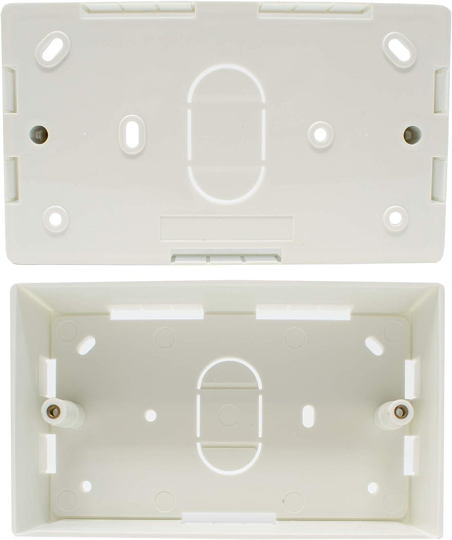 I-CHOOSE LIMITED Blanc Bo/îtier Simple pour Montage en Surface 86 x 86 x 32 mm Pattress /Électrique Bo/îte Arri/ère