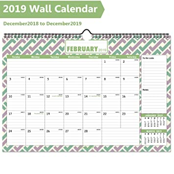 Desk Calendar 2019 2020 Large Monthly Desk Calendar With Plastic