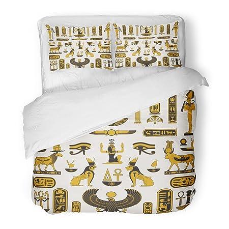 Sanchic Duvet Cover Set Egypt Ancient Egyptian Symbols Pharaoh
