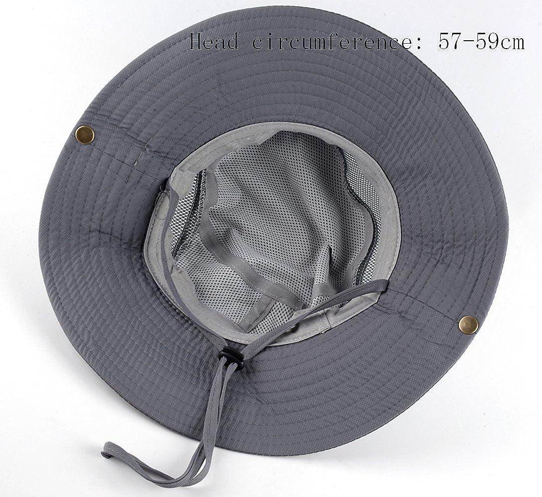 AOBRITON Sun Hat Men Bucket Hats Women Summer Fishin Cap Wide Brim UV Protection Flap Hat Breathable mesh Bone Gorras Beach Hat Men at Amazon Mens Clothing ...