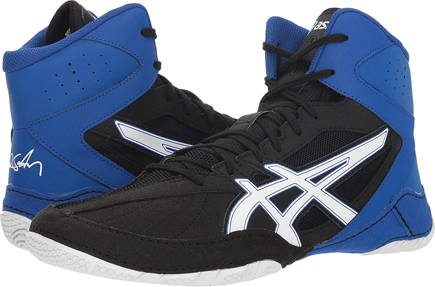 ASICS Caelr V8.0 Black/White Men's Wrestling Shoes 00-886XJKYF-SF