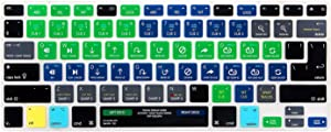 HRH Serato DJ Functional Shortcuts Hotkey Silicone Keyboard Cover Skin for MacBook Air 13,MacBook Pro13/15/17 (with or w/Out Retina Display, 2015 or Older Version)&Older iMac,USA and European Layout
